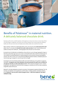 BENEO paper - Benefits of Palatinose (Isomaltulose) in maternal nutrition