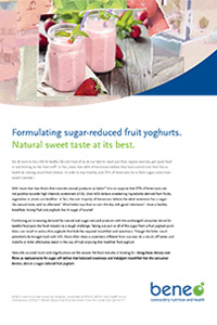 BENEO paper on fibres in sugar reduced yoghurt