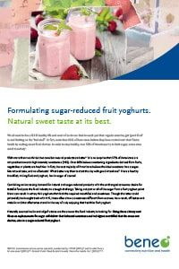 Beneo human nutrition pdf factsheet fibres sugar reduced yoghurt