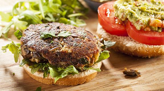 Functional protein veggie burger