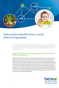 White paper early nutrition with carbs and fibres