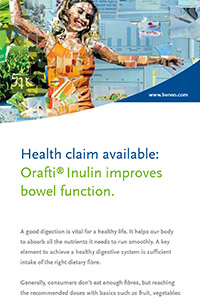 EFSA approved Health claim on Orafti Inulin
