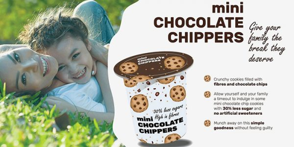 BENEO Choco chip cookies reduced in sugar concept