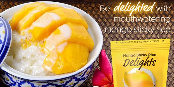 BENEO Mango sticky rice candy concept