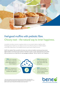 BENEO feel good muffin with prebiotic fibre