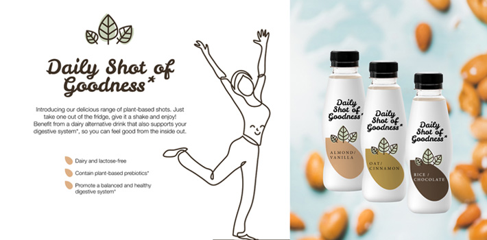 Concept dairy drink supporting digestive health