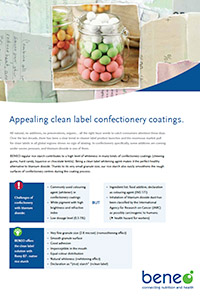 BENEO paper confectionery clean label coating