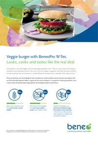 Meat replacement burger with Textured Wheat Protein