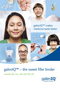 galeniq - the sweet pharmacuetical excipient filler