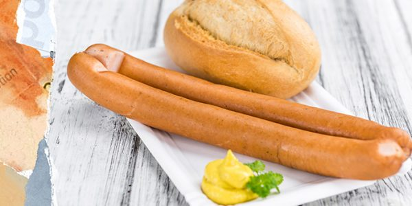 Frankfurter sausage with chicory root fibre