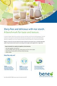 Alternative Rezepte zu Milchprodukten mit Reisstärke und Reismehl als Texturgeber