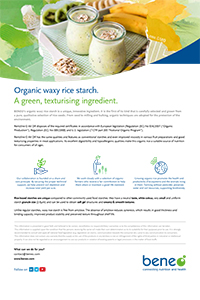 Paper Organic waxy rice starch