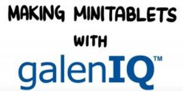 Making mini tablets with galenIQ