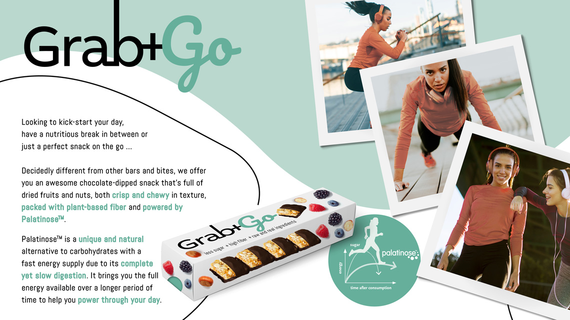 Concept Grab+Go high fibre granola bites