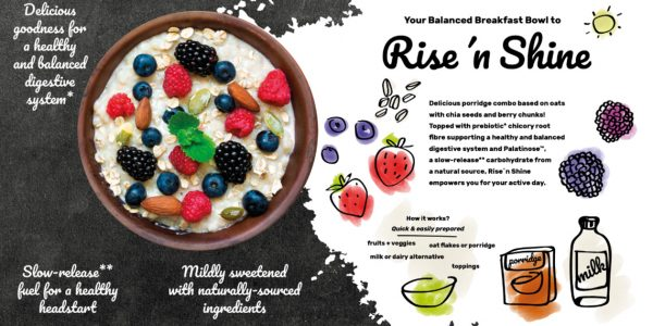 concept rise-n-shine balanced breakfast