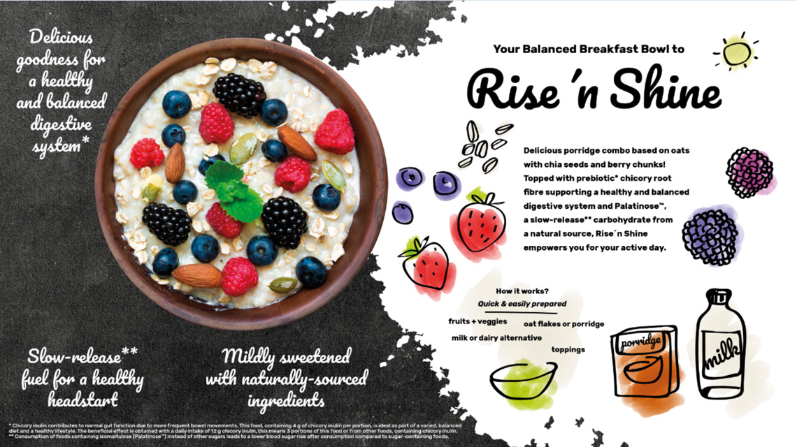 Concept breakfast bowl with Palatinose™
