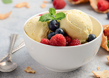 Applications for frozen dairy desserts