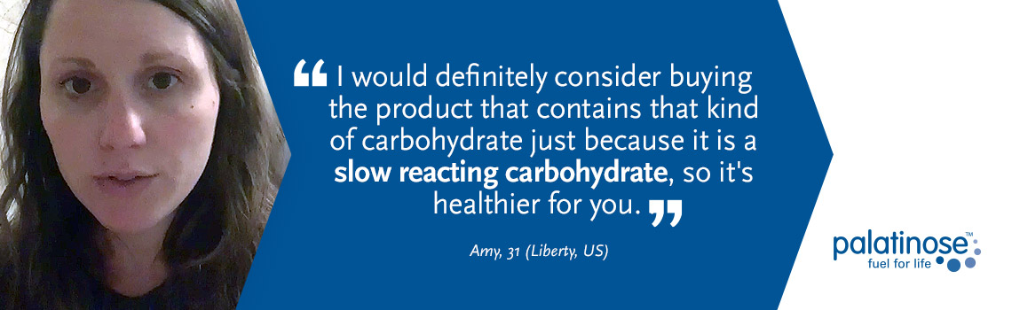 Testimonial Amy - What consumers think about slow carbohydrates?