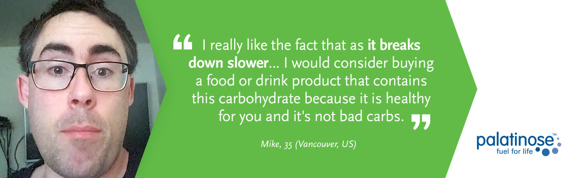 Testimonial Mike - What consumers think about slow carbohydrates?