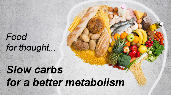 Food for thought, slow carbs for a better metabolism