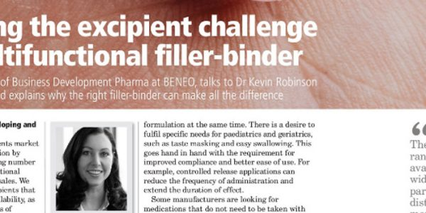 Overcoming the excipient challenge with a multifunctional filler-binder