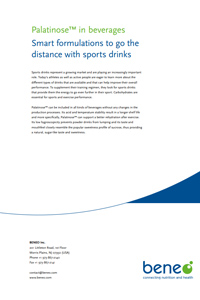 Palatinose™ in beverages