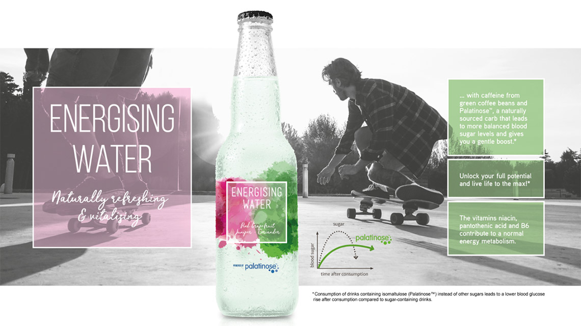 Concept Energising water, naturally refreshing