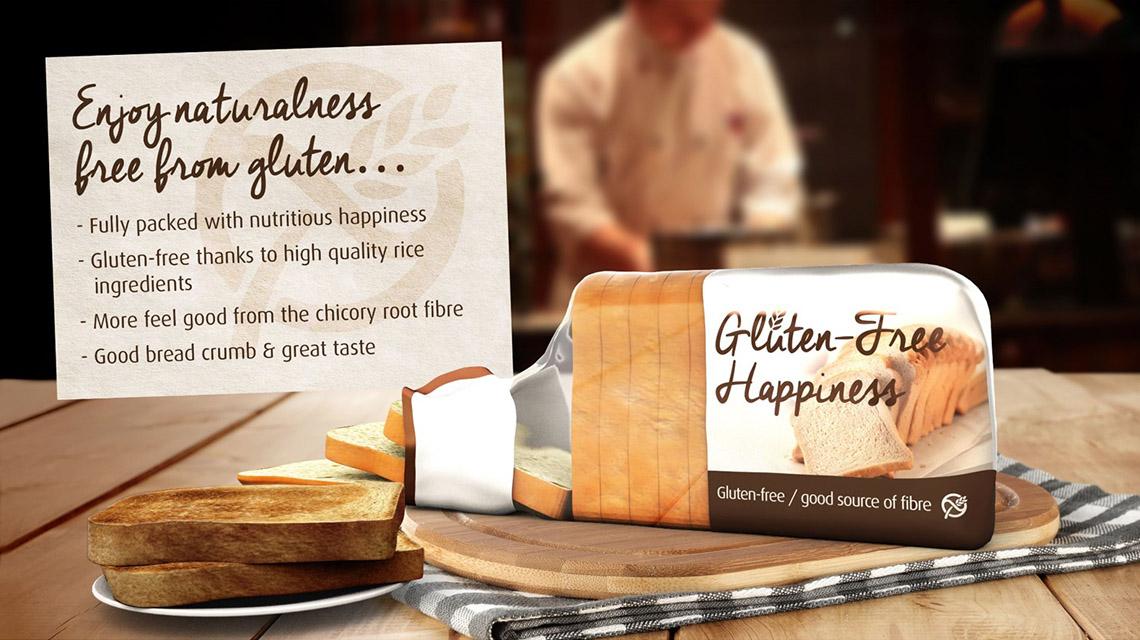 Concept Enjoy gluten-free happiness