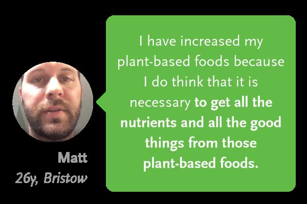Matt testimonial on plant-based indulgence
