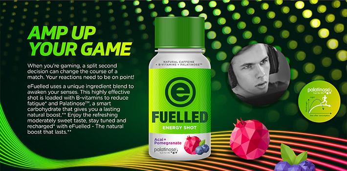 A refreshing energy shot contains Palatinose™