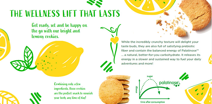 A delicious lemon biscuit with Palatinose™