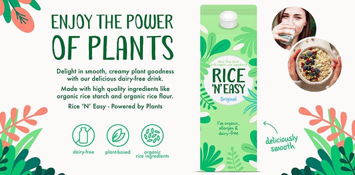 Concept Organic rice drink