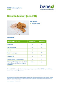 Recipe for granola biscuits with Isomalt.