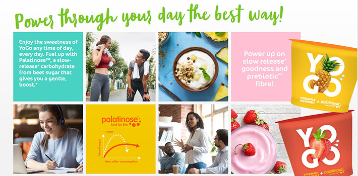 Yoghur wiht Palatinose™ and prebiotic fibre promoting your inner wellbeing