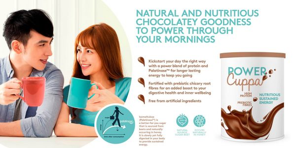 Chocolate drink Active Nutrition concept