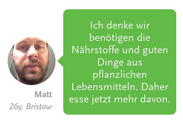 Matts Erfahrungsbericht über pflanzlichen Lebensgenuss