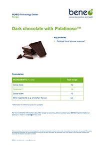 Receta de chocolate negro con Palatinose™