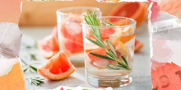 Paper for revitalising water with grapefruit flavour