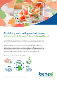 Revitalising water with grapefruit flavour
