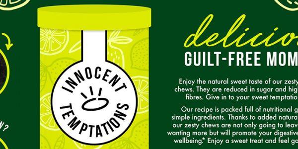 Innocent lemon lime chews concept