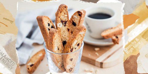 Alégrate el día con un biscotti bien crujiente.