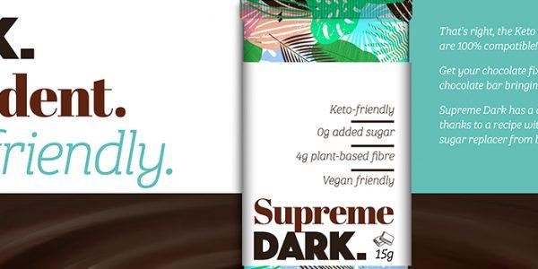 Keto Dark Chocolate Bar Concept