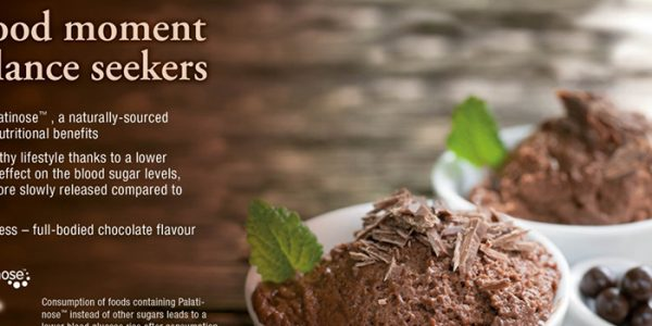 Concept chocolate mousse with Palatinose™