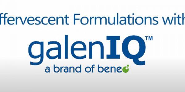 galenIQ™ Effervescent Formulations are consumer friendly