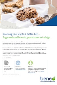 BENEO factsheet healthy biscuit break