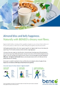 BENEO paper on Almond Bliss and belly happiness with BENEO's prebiotics.