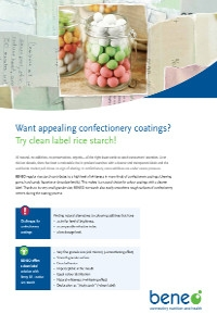 BENEO confectionary coating factsheet