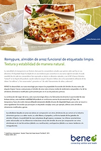 BENEO Factsheet Remypure in tomato sauce