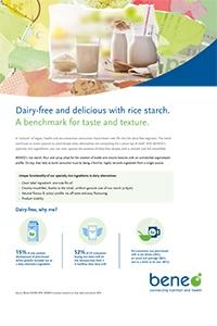 Dairy alternative with rice starch