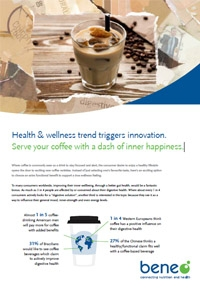 "BENEO paper on ""Feel good coffee"" -  inner wellbeing with Orafti® Inulin"